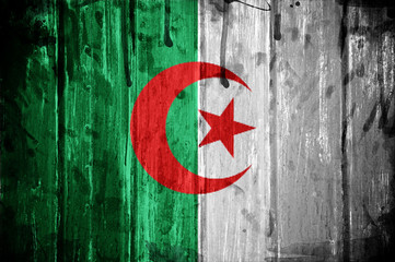 Photo on textile frame Algeria Flag of Algeria