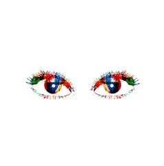 Colorful vector eyes