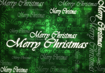 merry christmas typing green