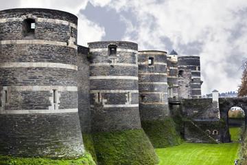Angers, château, monument, touristique, médiéval, pierre