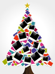 Christmas instant photo frame tree