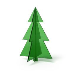 Christmas tree made ??of green glass