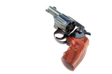Black revolver gun