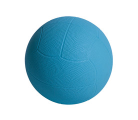 Blue dodge ball a sporting goods isolated