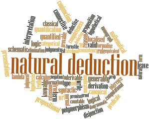 Word cloud for Natural deduction