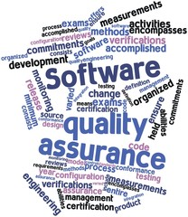 Word cloud for Software quality assurance