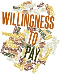 Word cloud for Willingness to pay