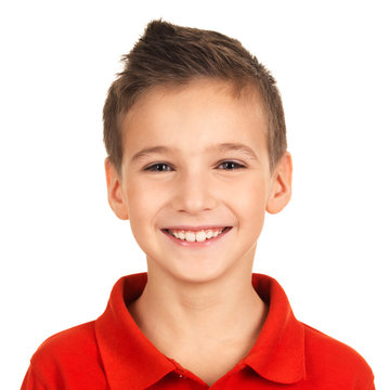 Portrait of adorable young happy boy
