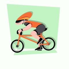 bicycle race cartoon