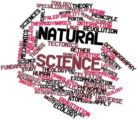 Word cloud for Natural science