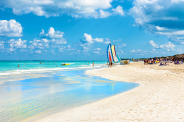 Wall Mural - The famous beach of Varadero in Cuba