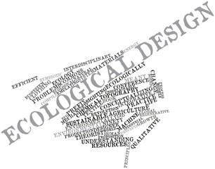 Word cloud for Ecological design