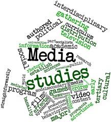 Word cloud for Media studies