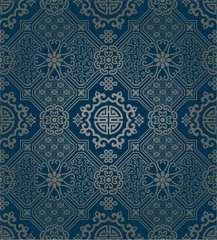 Oriental style wallpaper, seamless pattern