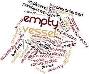 Word cloud for Empty vessel