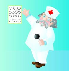 Vector doctor, oculist
