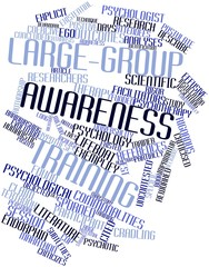 Word cloud for Large-group awareness training