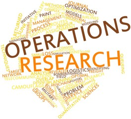 Word cloud for Operations research