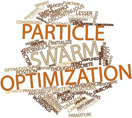 Word cloud for Particle swarm optimization