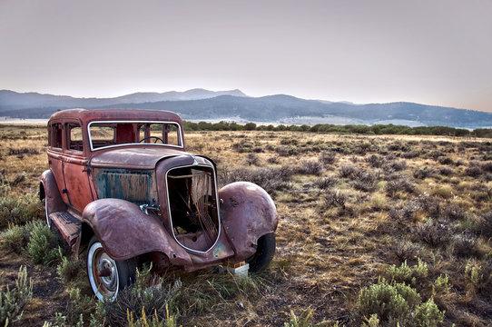 Voiture vintage abandonnée - Montana, USA