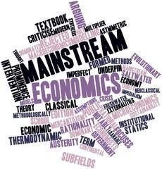 Word cloud for Mainstream economics