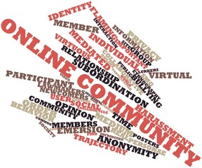 Word cloud for Online community