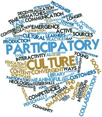 Word cloud for Participatory culture