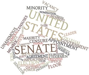 Word cloud for United States Senate