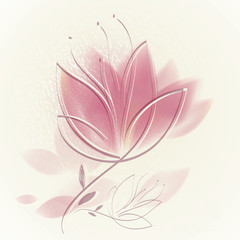 Canvas Prints Abstract Floral Pink tulip / Lovely floral background
