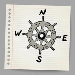Doodle steering control-compass sketch concept