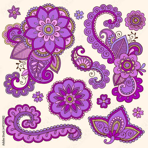 Узоры из цветов не руку