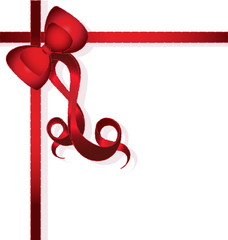 Red Bow for gifts(vector)