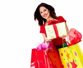 Beautiful Shopping woman.