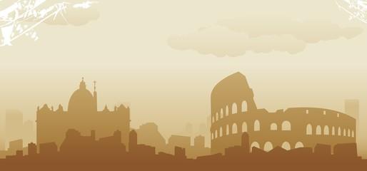 roma skyline Fotomurales