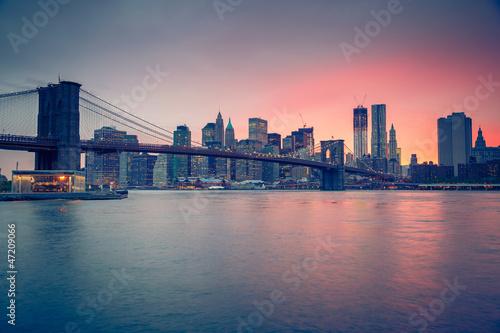Нью-Йорк закат мост бесплатно