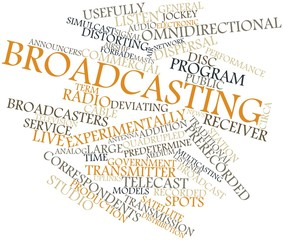 Word cloud for Broadcasting