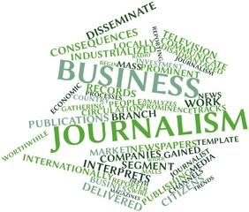 Word cloud for Business journalism