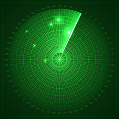 Green radar screen