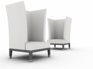 Current chair with a high back