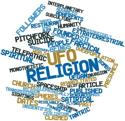 Word cloud for UFO religion