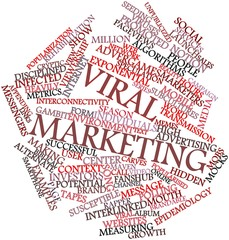 Word cloud for Viral marketing