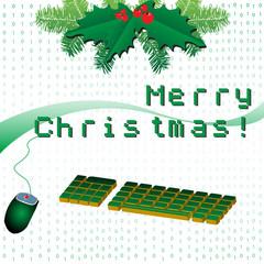 Fotobehang Pixel Merry Christmas in pixels