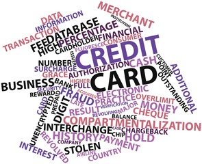 Word cloud for Credit card