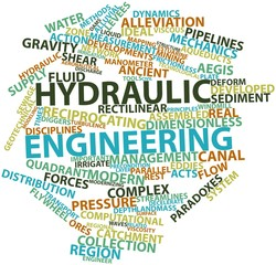 Word cloud for Hydraulic engineering