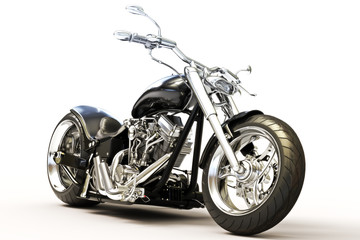Motorcycle on a white background Wall mural