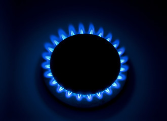 Burning natural gas