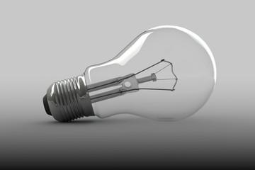 Light Bulb on a white