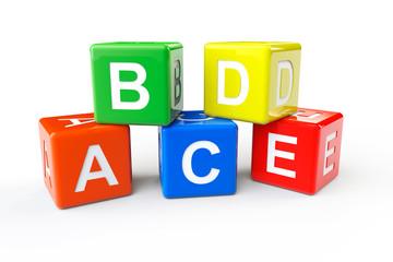 ABCD block cubes