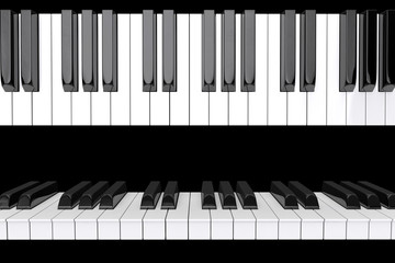 Closeup Piano keys