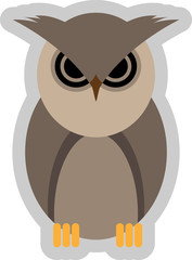 Abstract vector illustration of a mad owl